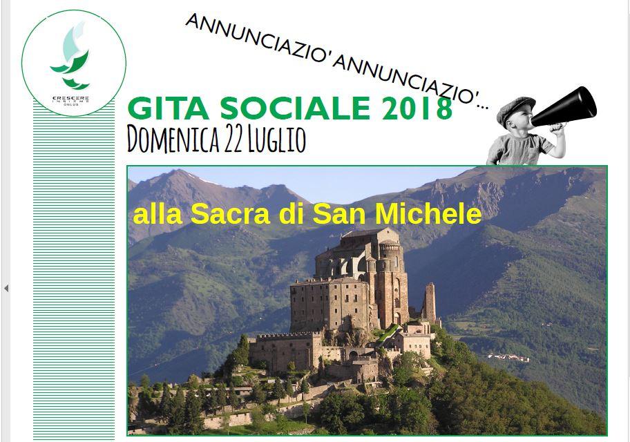 22 LUGLIO: GITA SOCIALE