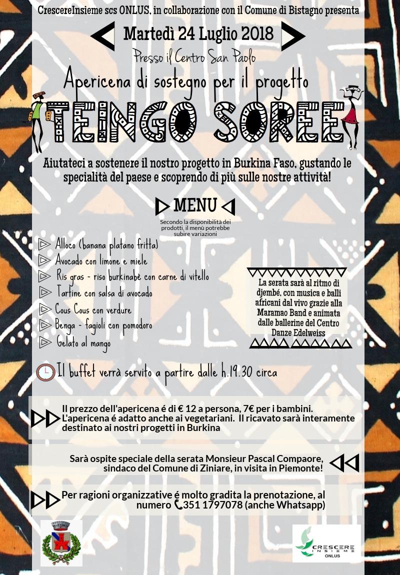apericena di sostegno a TEINGO SOREE - CAMMINIAMO INSIEME
