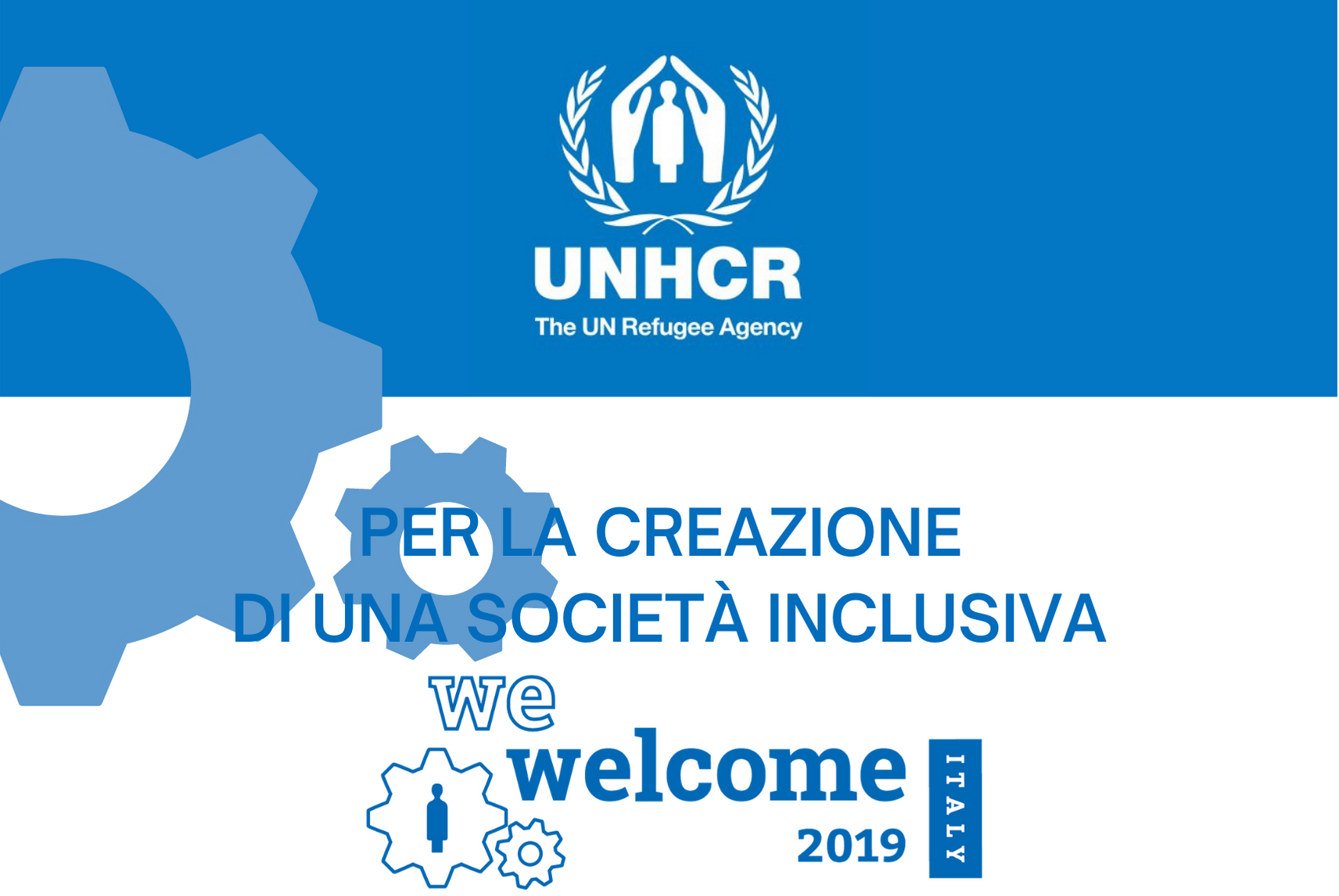 CrescereInsieme premiata con il logo WE Welcome dall'UNHCR